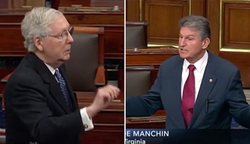 Sen. Joe Manchin erupts into shouting match with McConnell: You're 'more concerned about the health of Wall Street'