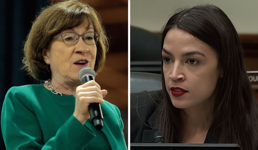 Ocasio-Cortez tells Susan Collins to hold her 'crocodile tears' after tensions between Democrats and the GOP majority 'boil over' in the Senate