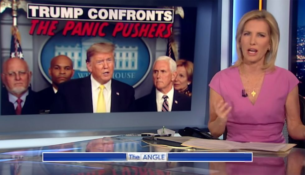 Laura Ingraham calls out Trump for dodging question about struggling businesses on 'Fox & Friends'