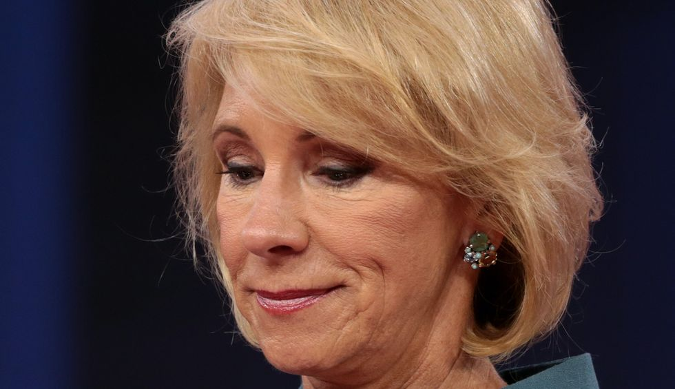 Betsy DeVos accused of 'hiding' in her mansion as she pushes for schools to reopen