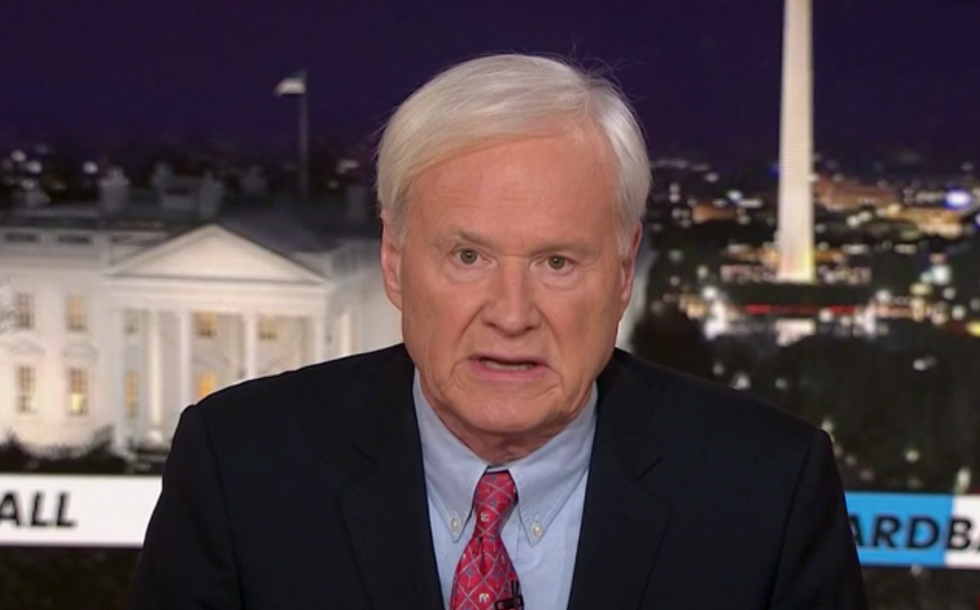 MSNBC host Chris Matthews retires suddenly and admits to inappropriate comments toward women