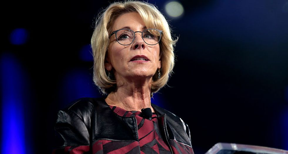 'Blatant violation of the First Amendment': Liberal nonprofit sues Betsy DeVos for censoring its website