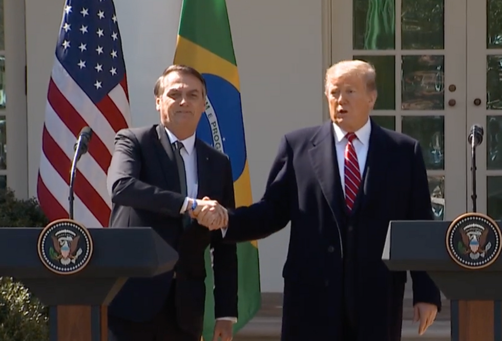 'We have many views that are similar': Trump shamelessly embraces the bigoted and anti-LGBT Brazilian president