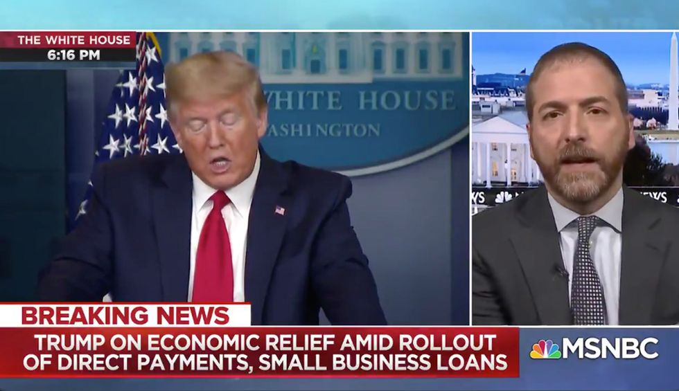 MSNBC interrupts briefing so doctor can refute Trump's 'mystifying' claim that zinc can treat COVID-19