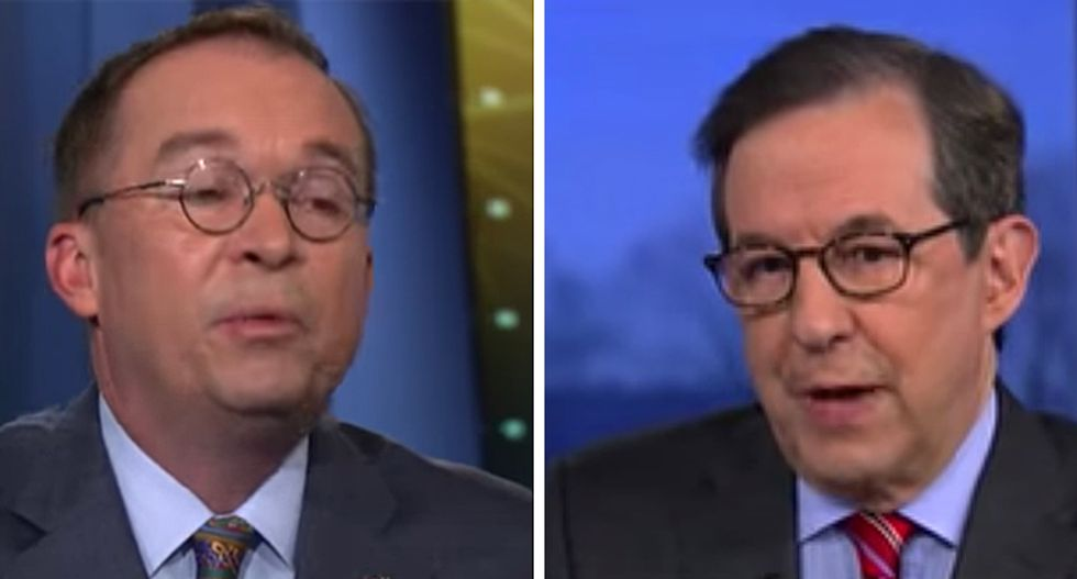 Fox News' Chris Wallace brings the receipts after White House acting chief of staff insists Trump is 'not a white supremacist'