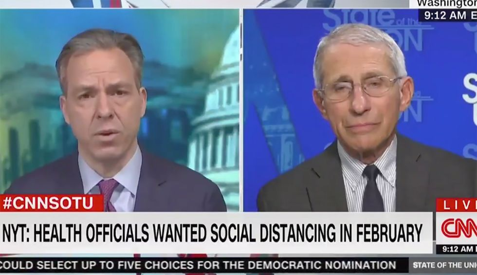Watch CNN's Jake Tapper expose Trump's historic incompetence while interviewing Fauci