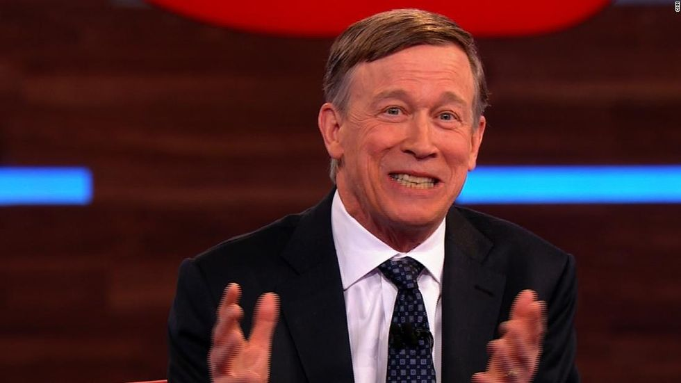 John Hickenlooper's most memorable line in his CNN town hall was no laughing matter