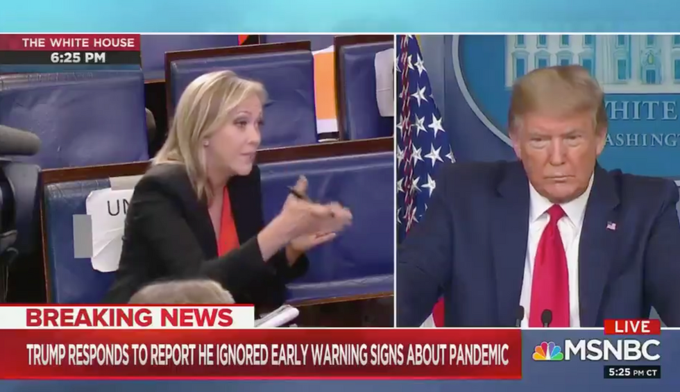 'You know you're a fake!': Trump's temper flares when a reporter nails his key coronavirus failure