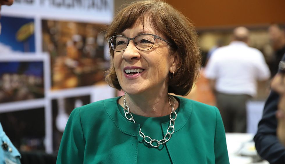 Susan Collins is up to her old tricks, making up new rules to avoid talking Trump and playing the victim