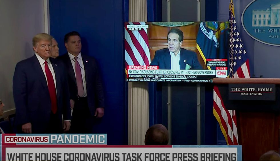 Trump uses coronavirus briefing to air campaign-style clip attacking news media: 'Propaganda aired at taxpayer expense'