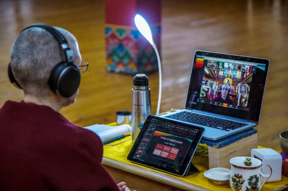 Deep connection: virus takes India's spiritual retreats online