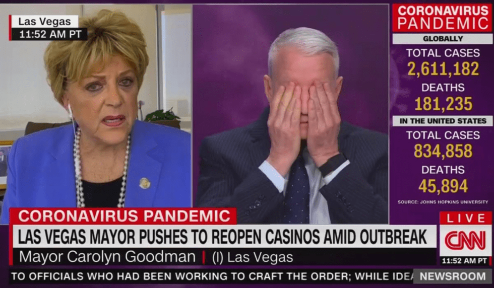 Las Vegas mayor stuns Anderson Cooper in an incoherent interview about reopening casinos in a pandemic