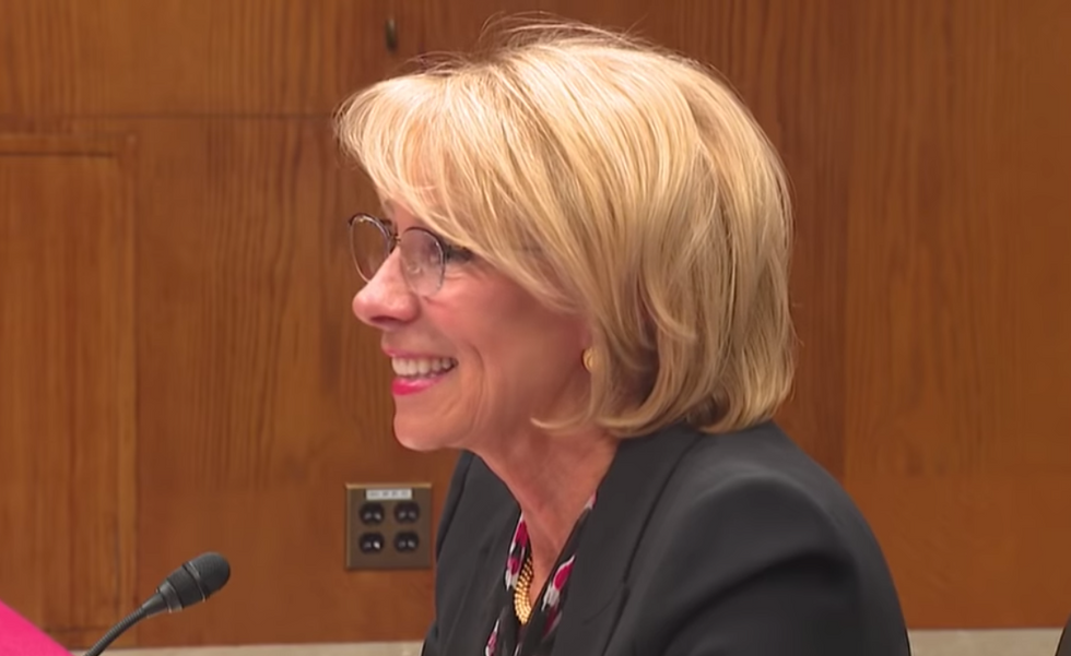 Betsy DeVos gets skewered by Ayanna Pressley for comparing abortion rights to slavery
