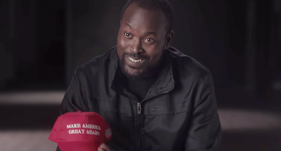 Canadian group has a powerful new use for MAGA hats