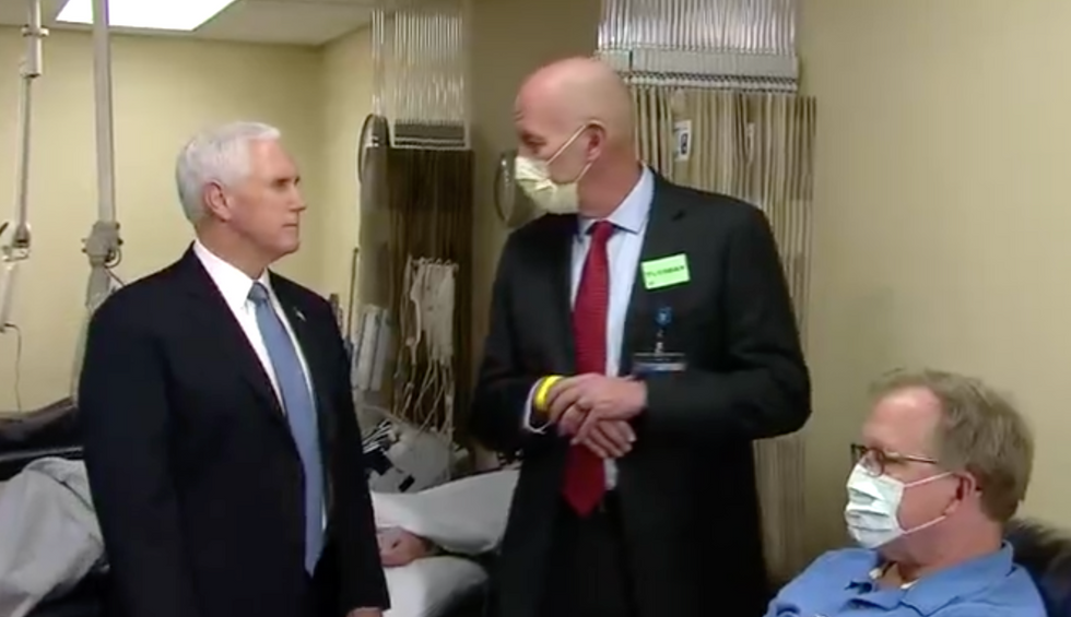Mike Pence refuses to wear mask at health clinic