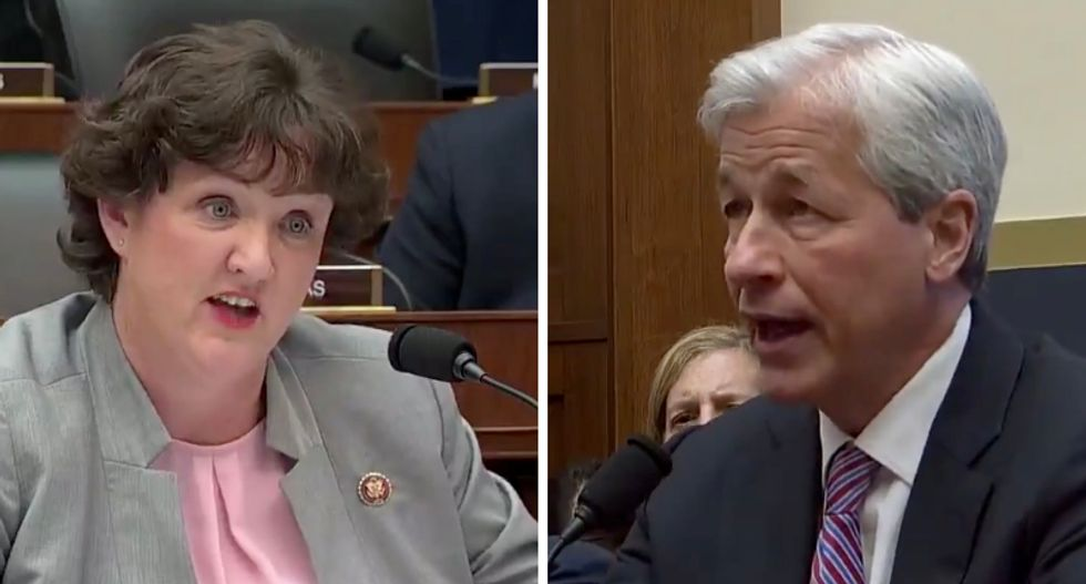 Watch: Democratic congresswoman corners billionaire CEO Jamie Dimon over pay disparity at JP Morgan Chase — and leaves him speechless