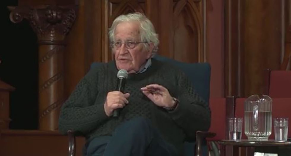 Chomsky: By focusing on Russia Democrats handed Trump a 'huge gift' and possibly the 2020 election