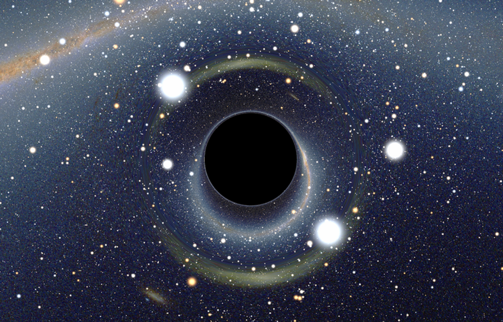 We're just about to get our first glimpse of a black hole