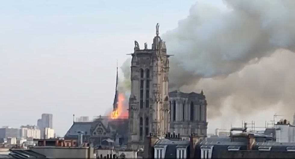 Watch live: Paris' Notre Dame Cathedral is on fire