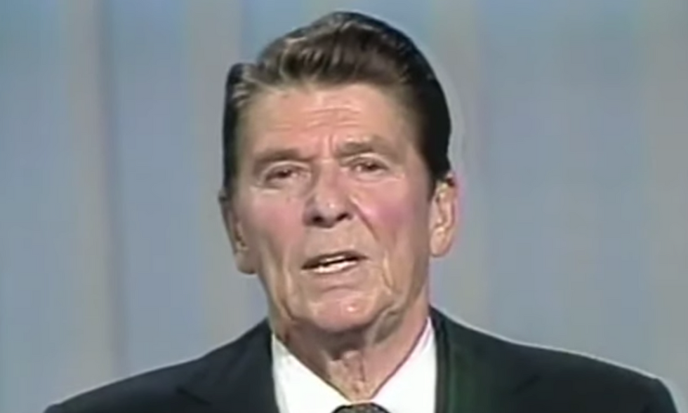 Trump is getting a failing grade on Ronald Reagan's key test for re-election