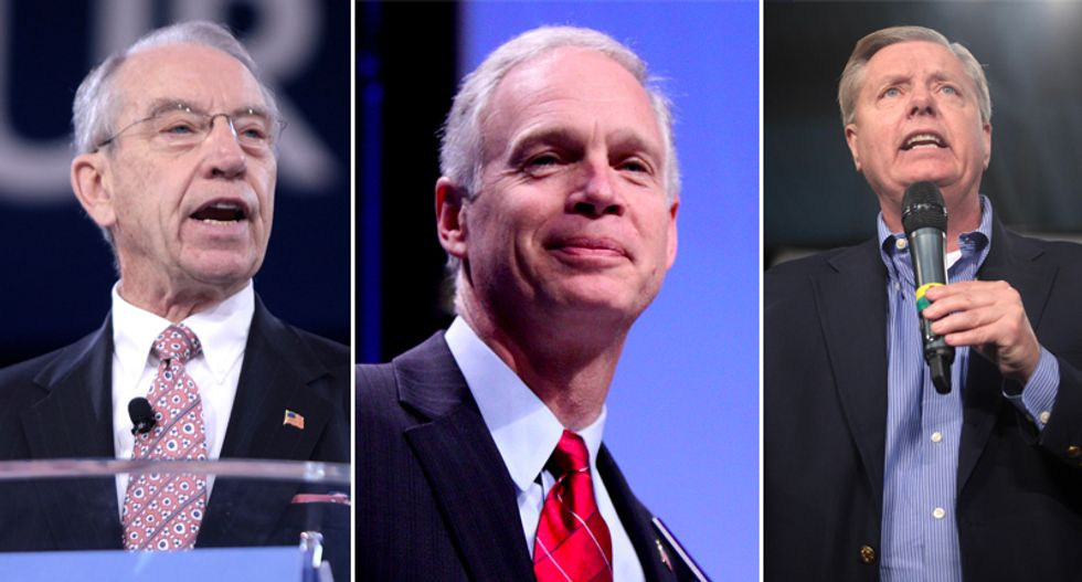 Trio of Republican senators demand DOJ hand over information on Clinton email probe as AG Barr prepares for release of redacted Mueller report