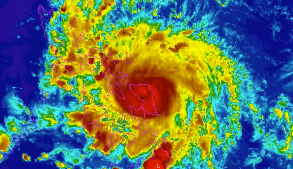 'Trapped in a nightmare situation': Philippines typhoon offers glimpse of climate disaster amid a pandemic