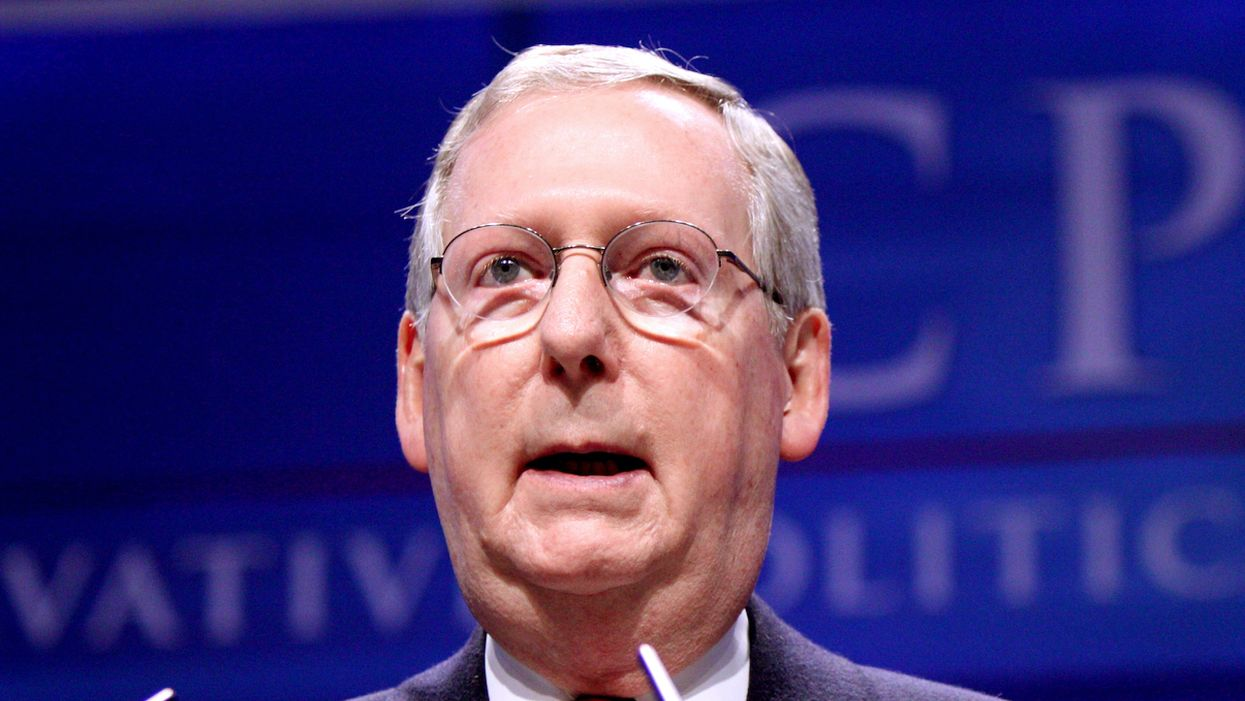 Hypocrite-in-chief McConnell reaches new heights with claim Biden commission will 'politicize' the Supreme Court