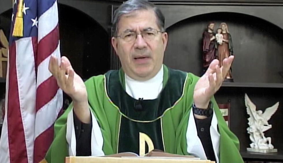 Trump-loving Catholic priest goes ballistic after Biden-Harris news — ranting about 'bloodshed' and 'new terrorists'