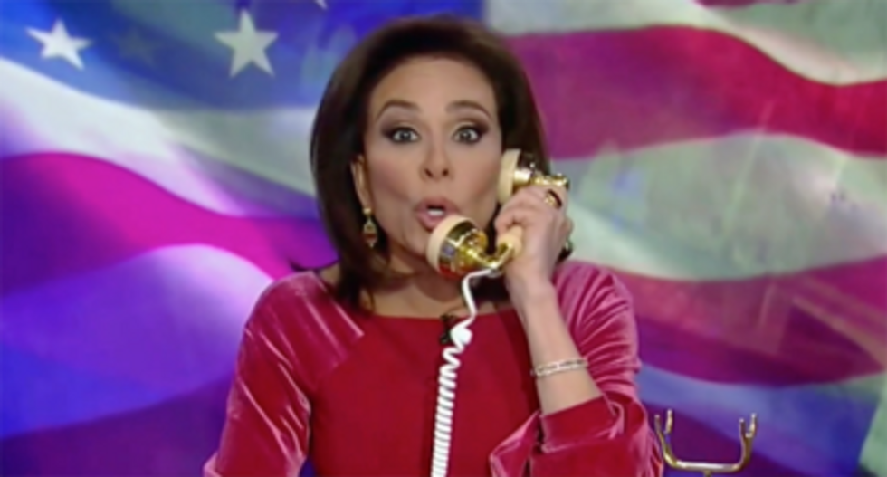 Fox hosts call out Judge Jeanine for predicting 'something' will keep Biden off of Democratic ticket