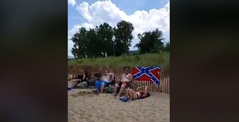 'My flag has 50 stars,' Black woman tells beachgoers displaying Confederate flag