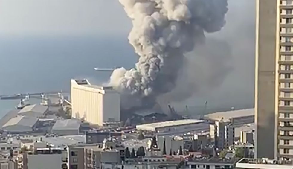 Beirut rocked by explosion causing 'large numbers' of injuries in Lebanese capital: video