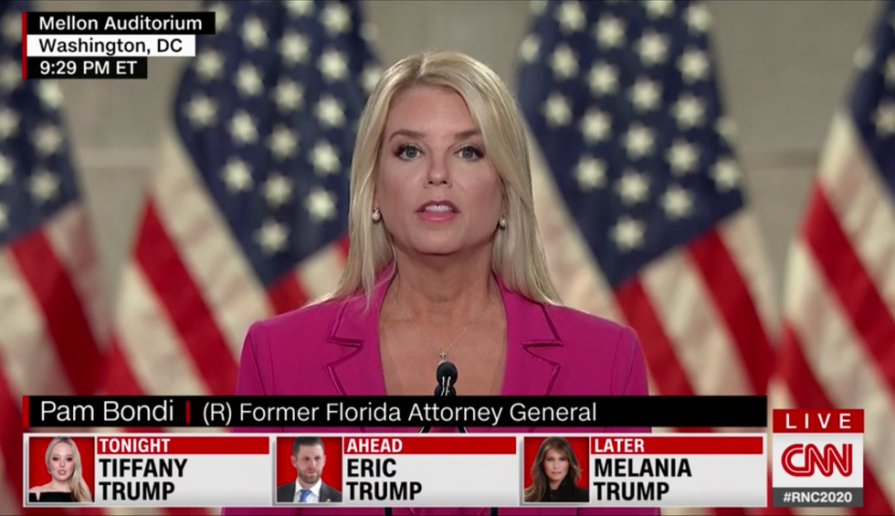 Pam Bondi's performance at the RNC took the GOP's absurdity to new heights