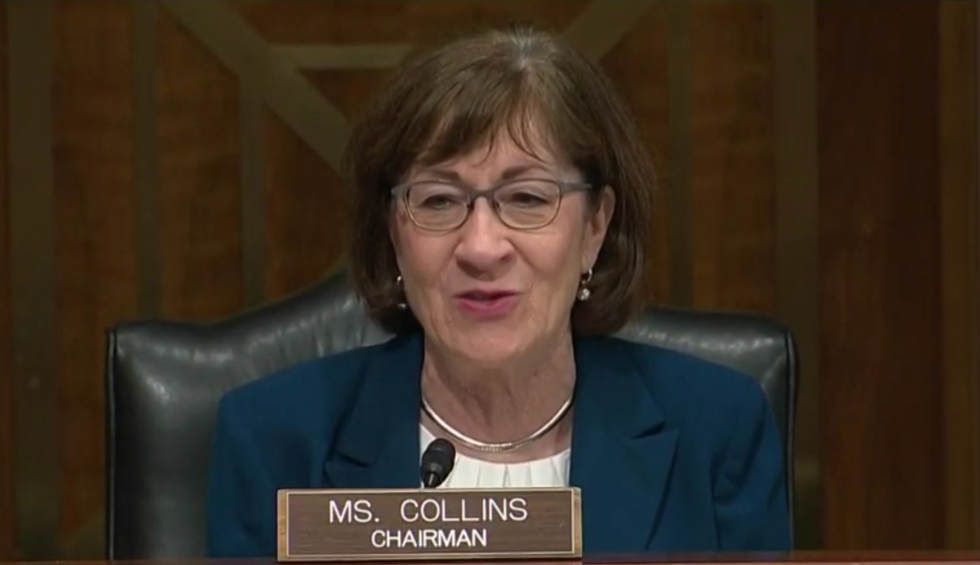 A new poll has a lot of bad news for Susan Collins in Maine