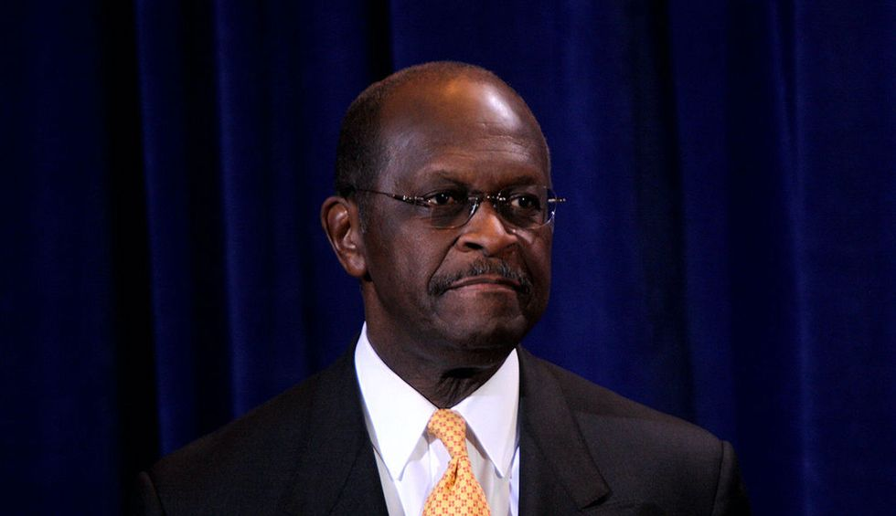 A writer details the striking parallels between Herman Cain and Trump's political personas