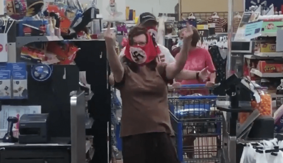 Watch: Couple wears swastika masks in Minnesota Walmart to protest state mask mandate