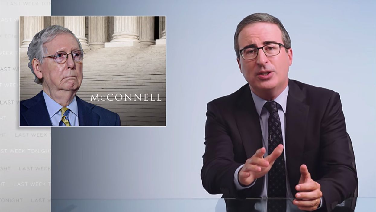John Oliver breaks down how Dems can bring the pain to Mitch McConnell — even if he wins re-election