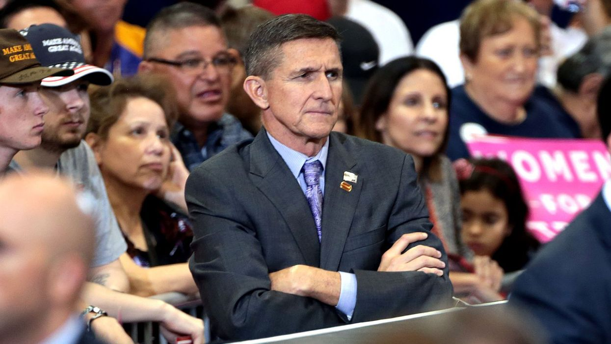 Mike Flynn's lawyer just admitted to a federal judge she's discussed his case with Trump