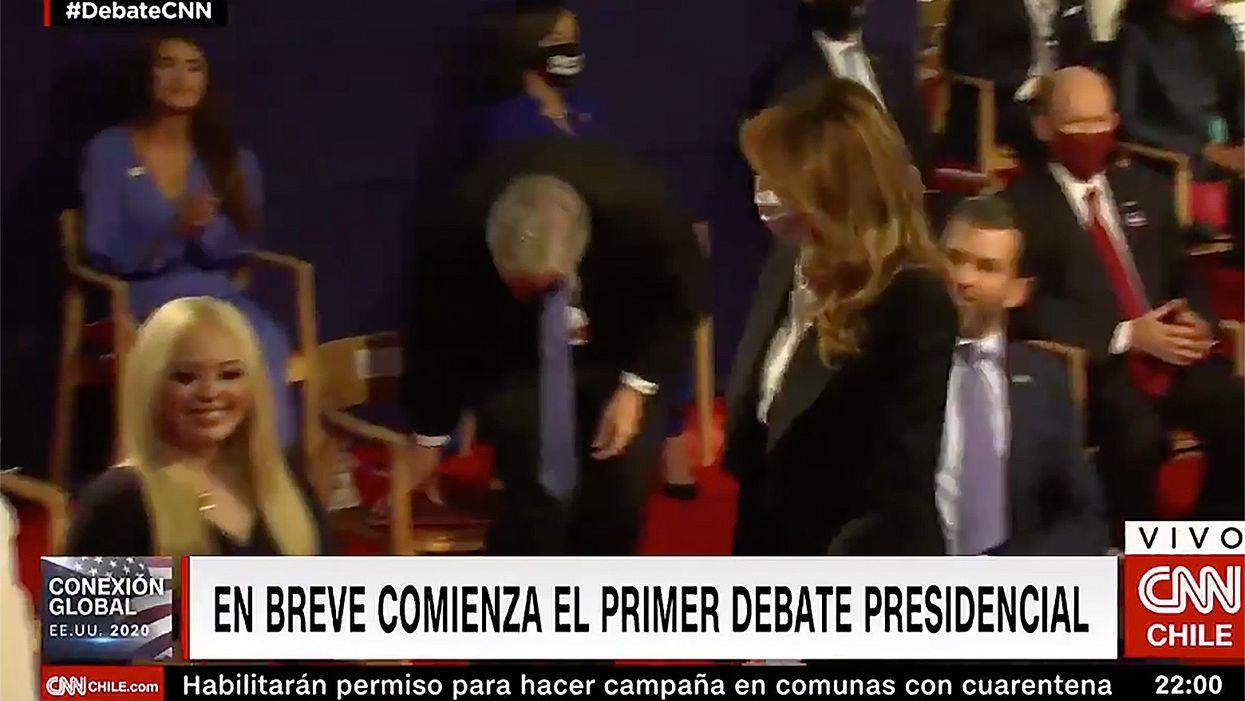 Members of Trump's family broke venue rules by not wearing face masks during debate