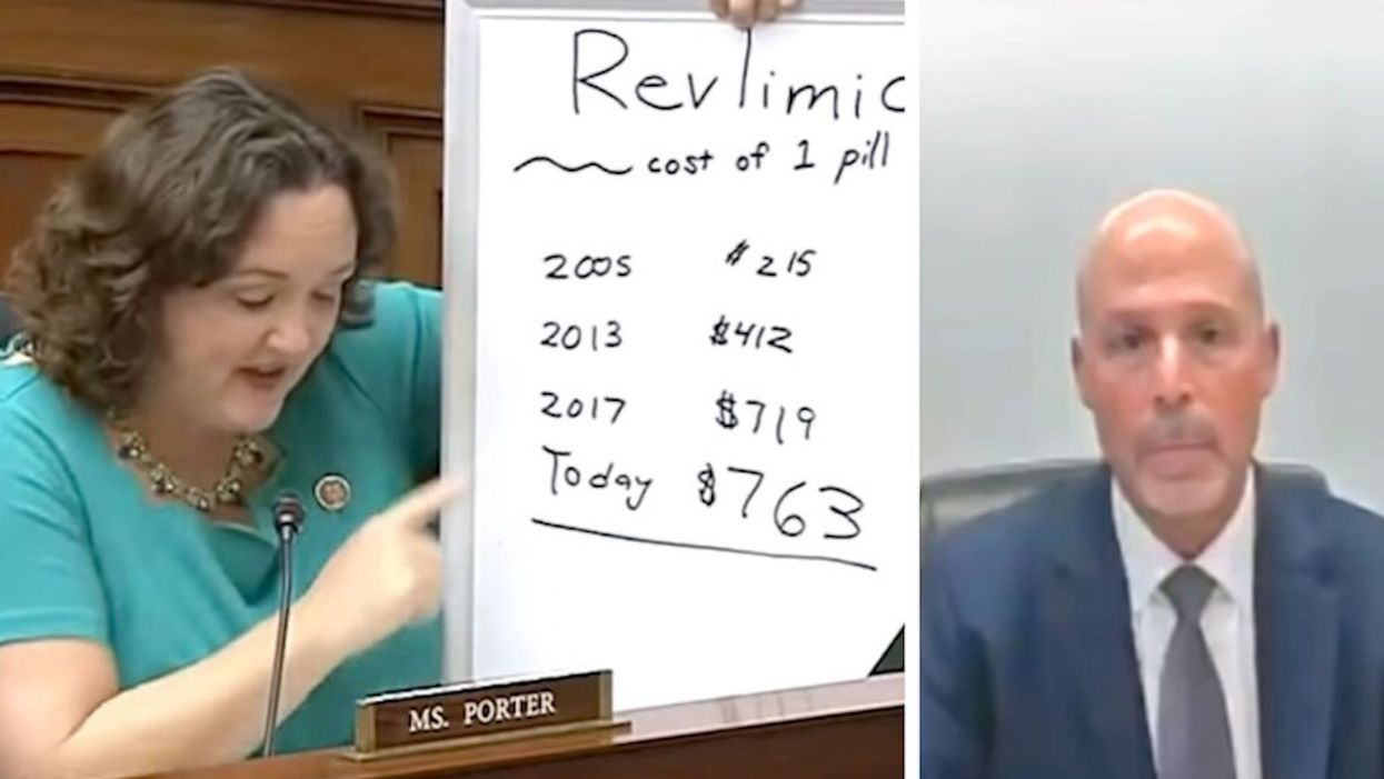 Rep. Katie Porter brilliantly grills a pharma CEO and exposes his horrifying earnings