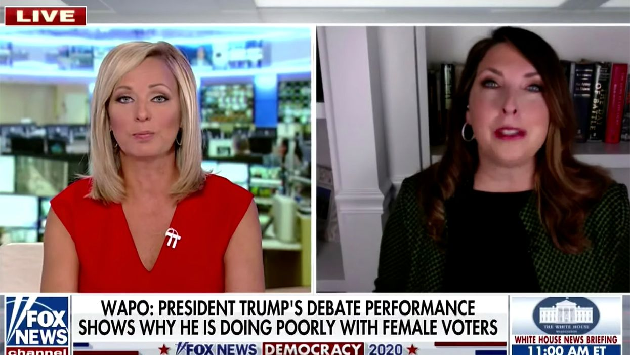 'Women didn't like that': Fox News host grills GOP chairwoman after Trump interrupts '145 times' at debate