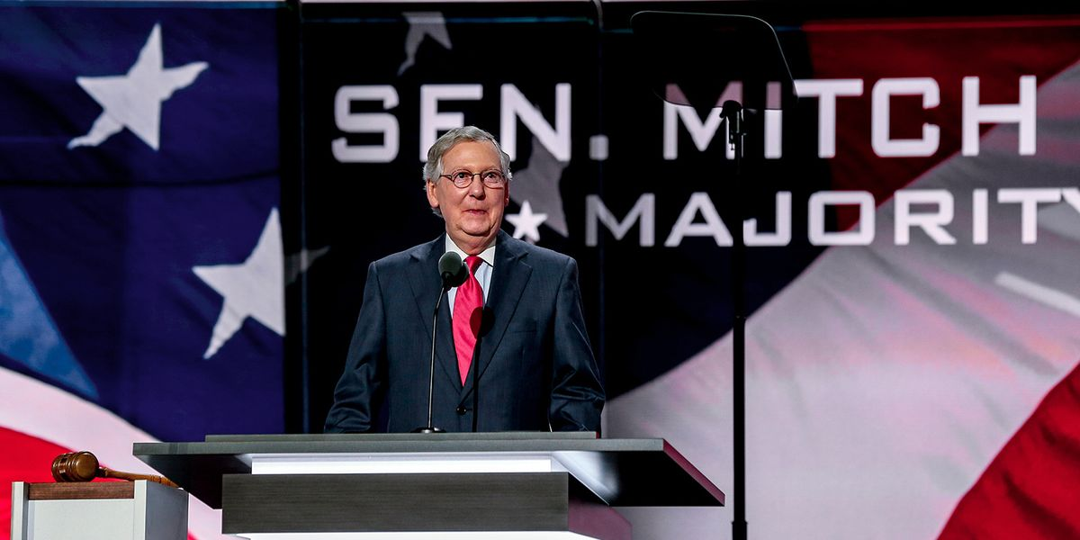 McConnell's latest agenda is to make sure the GOP continues to trample democracy even if they lose the Senate