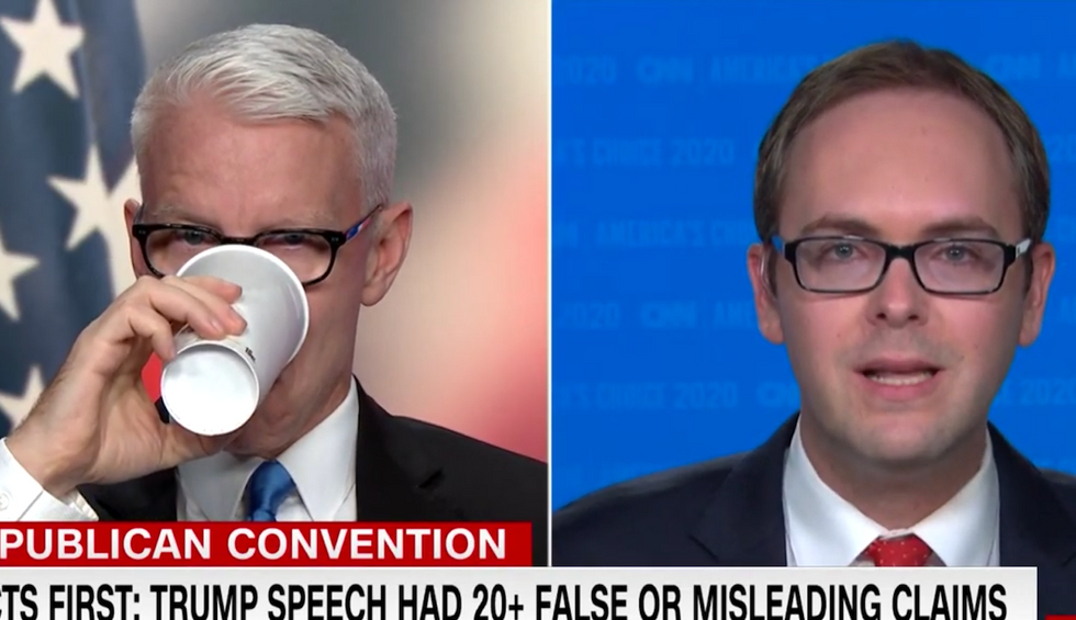 CNN reporter rattles off 20 corrections to Trump's blizzard of lies in rapid-fire fact-check