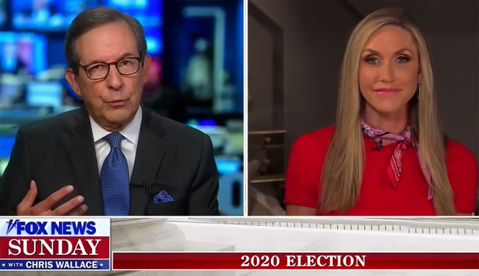 Chris Wallace scolds Lara Trump for 'chairs right next to each other' at RNC 'super-spreader event'