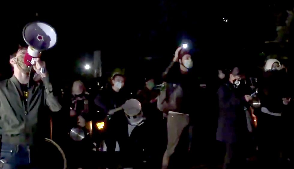 Early morning protest erupts outside Lindsey Graham's home: 'He told us to use his words against him'