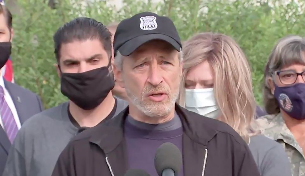 Jon Stewart joins veterans in DC to demand attention for a deadly policy killing US troops
