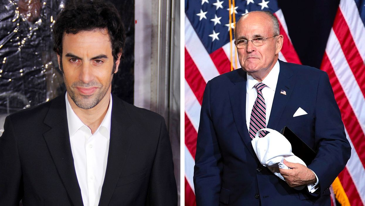 Rudy Giuliani tricked by Sasha Baron Cohen into having 'indiscreet encounter' with young actress