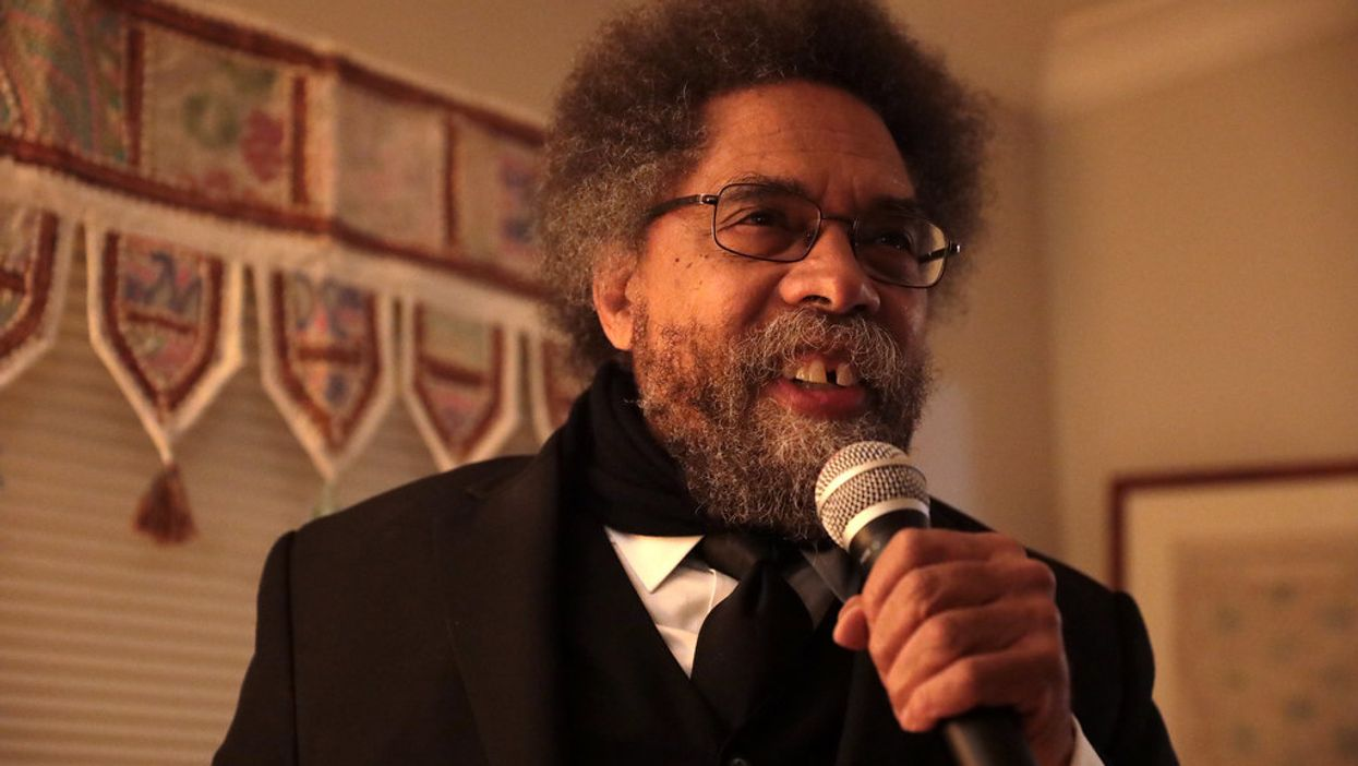 Cornel West explains the rhetorical trick 'fascist' Trump uses to beat his audience into submission
