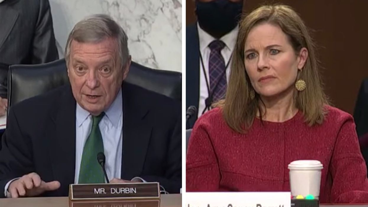 Watch: Dick Durbin dismantles Lindsey Graham's attack on Obamacare at Amy Barrett hearing