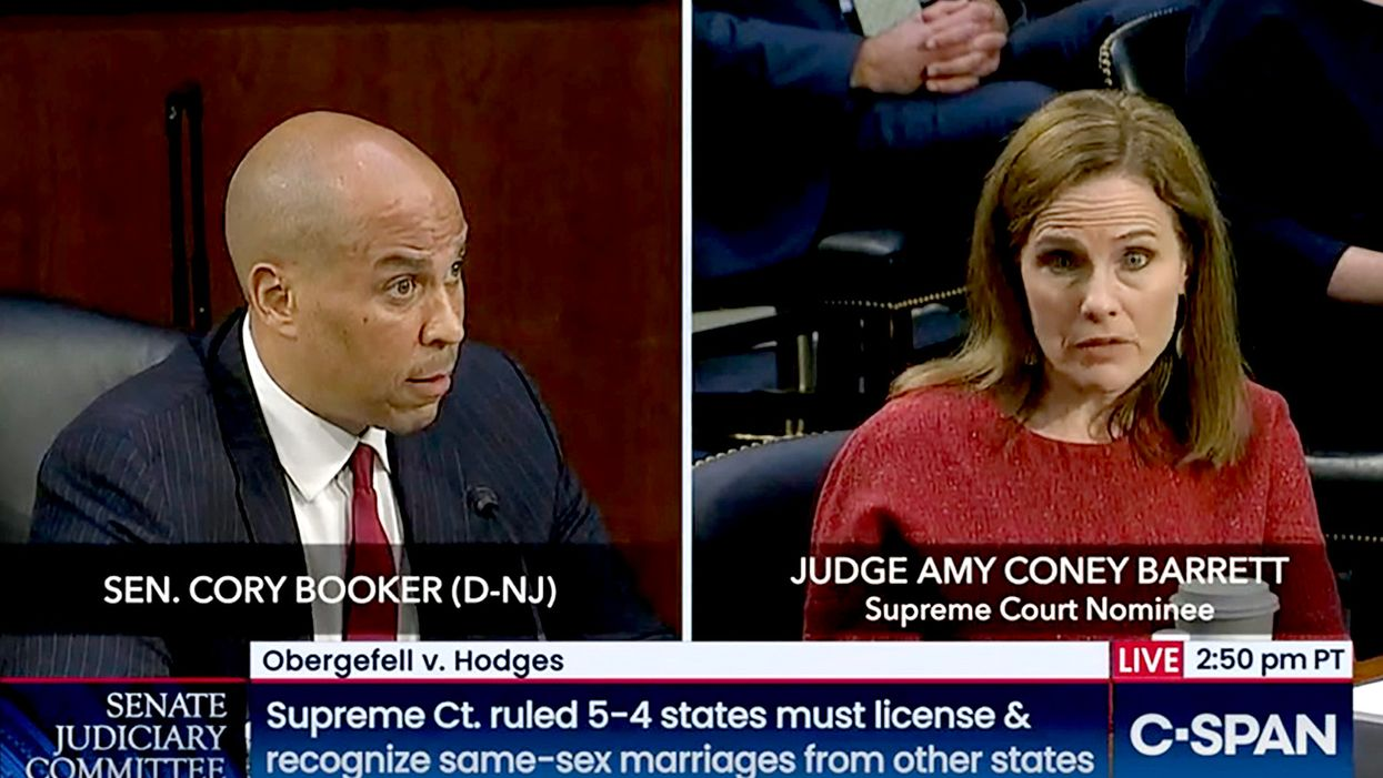 Watch: Amy Coney Barrett stumbles when Cory Booker asks about religion and marriage