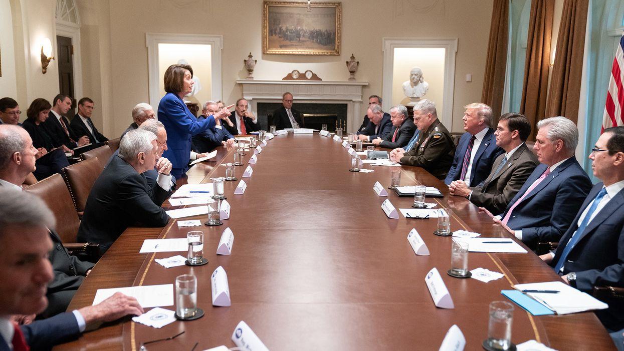 Why flip-flopping Trump needs Democrats more than boot-licking Senate Republicans